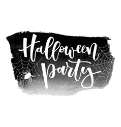 Halloween party inscription vector image