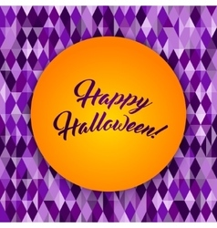 Halloween patterned greeting card monster face vector image