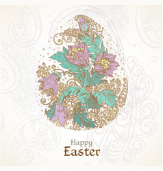 happy easter vintage color background vector image