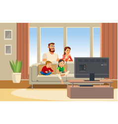 Happy family day out cartoon vector