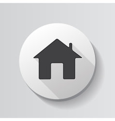 Home Glossy Icon vector