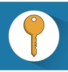 Key of hotel service design vector