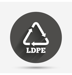 Ld-pe sign icon Low-density polyethylene vector