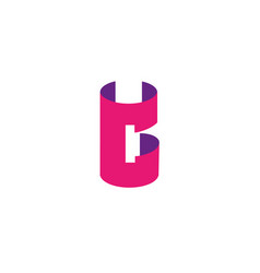 letter c logo design template elements paper vector image