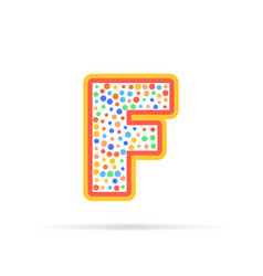 letter f with dots logo design vector image