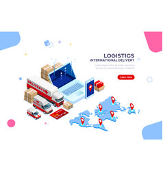 logistic international delivery vector image