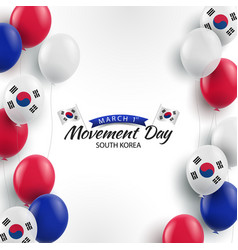 March 1st movement day vector