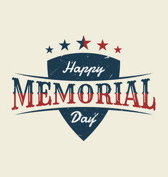 memorial day with shield background or banner vector image