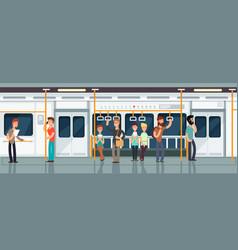 modern subway passenger carriage interior vector image