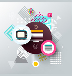 modern web template with shapes abstract vector image