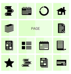 page icons vector image