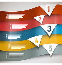 paper progress steps for tutorial vector image vector image
