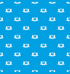 people group pattern seamless blue vector image