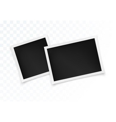 photo frame set square and horizontal photography vector image