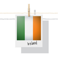 photo of ireland flag vector image
