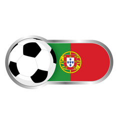 Portugal soccer icon vector