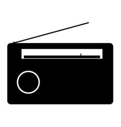Radio the black color icon vector