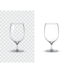 realistic wine glasses vector image