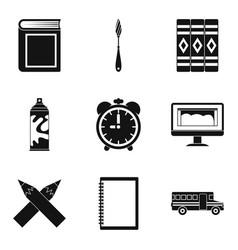 realize icons set simple style vector image