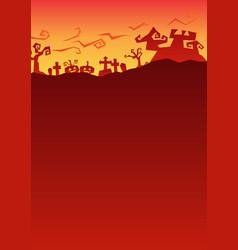 Red halloween party roughen gradient greeting vector
