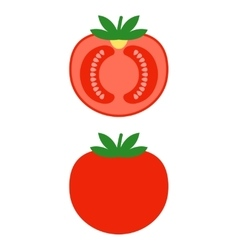 Red tomato Colored flat object vegetable vector image