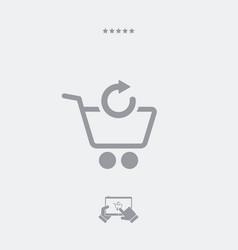 Refresh shopping cart icon vector