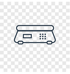 scale concept linear icon isolated on transparent vector image