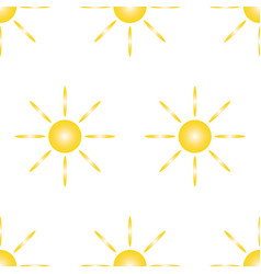 seamless pattern from yellow sun and eight rays vector image