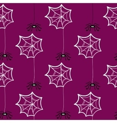 Seamless Pattern Halloween Spiderweb vector