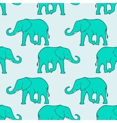 Seamless pattern with ilhouette elephants vector image