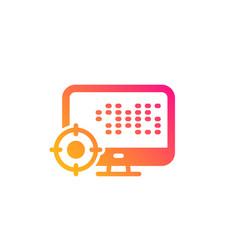 Seo computer icon search engine optimization sign vector