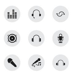 Set 9 editable melody icons includes symbols vector