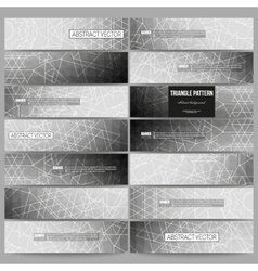 Set of modern banners Sacred geometry triangle vector