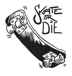 Skateboard black vector