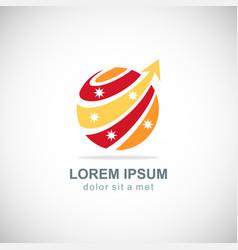 sphere loop arrow technology logo vector image