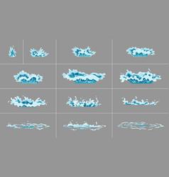 Sprite water splash animation shock waves vector
