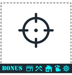 Target icon flat vector