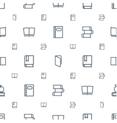 Textbook icons pattern seamless white background vector
