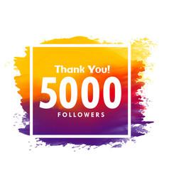 Thankyou message for 5000 social media followers vector