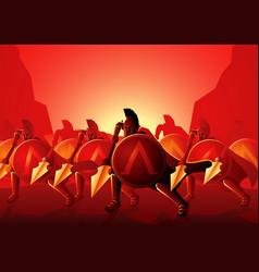Three hundred spartans at battle vector