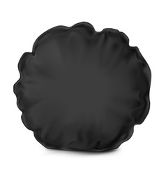 Unn mock up black pillow round vector