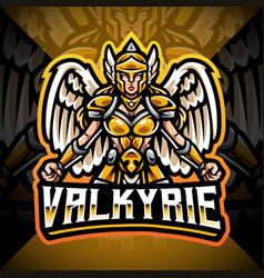 Valkyrie esport mascot logo design vector