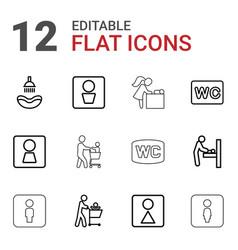 Washroom icons vector