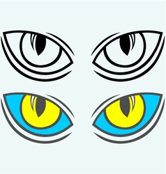 Wild cat eyes vector