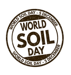 world soil day sign or stamp vector image