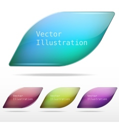 Abstract background glass speech bubble vector image