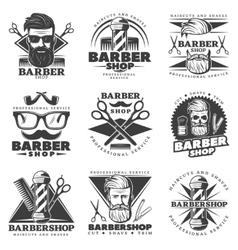 Vintage Barber Hipster Labels vector image