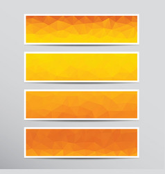 banners with orange polygons vector image vector image