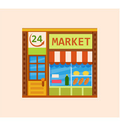 convenience store vector image vector image