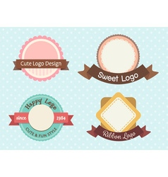cute and sweet pastel vintage premium logo or vector image vector image